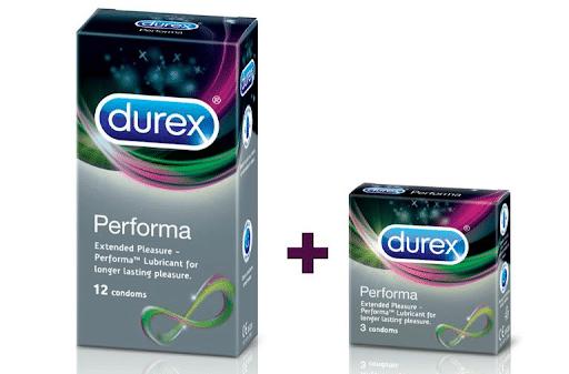 Bao cao su kéo dài thời gian quan hệ Durex Performa