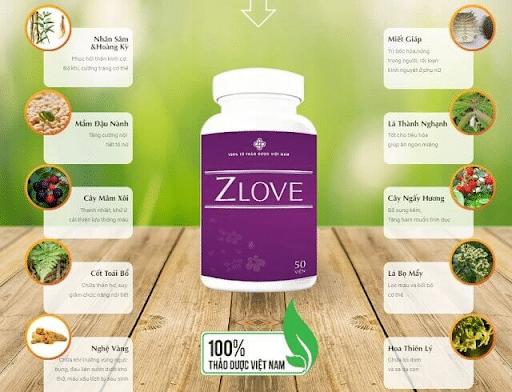 Thuốc tăng cường sinh lý nữ Zlove với 100% từ tự nhiên